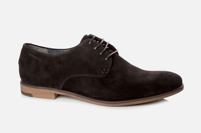 Vagabond Mens Linhope Java Suede Dark Brown Shoe