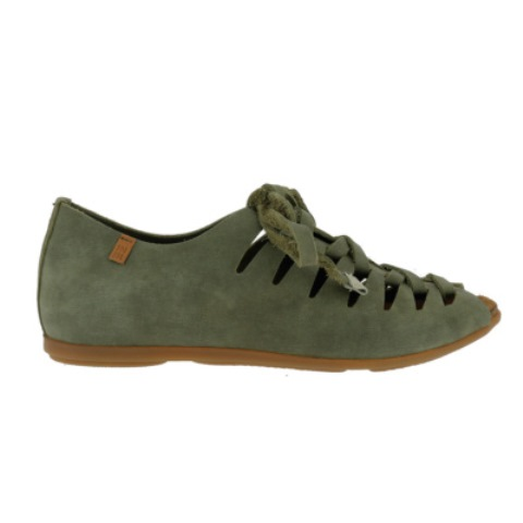 El Naturalista Women's ND52 laceup Flats in Khaki