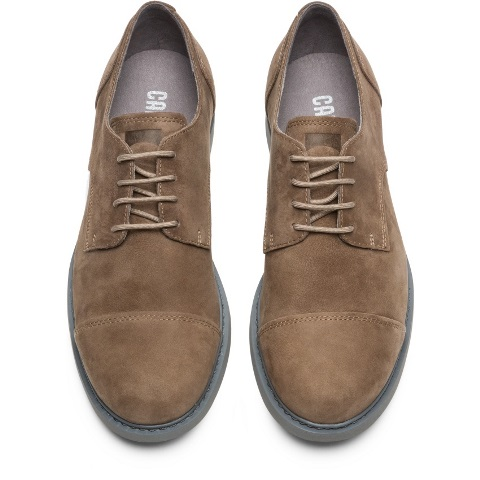 Camper Men's Neuman Shoe in Light Brown Nubuck