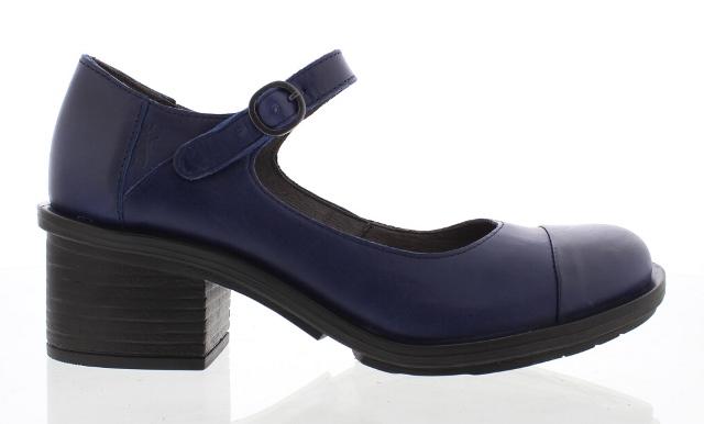 Fly London Women's Cody Mary Jane Heels in Blue Leather