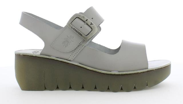 Fly London Yail Women's Wedge Sandal in Grey