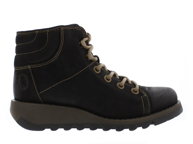 Fly London Sire Women's Black Leather Ankle Boots