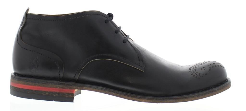 Fly London Men's Soar Black Brogue P210858000
