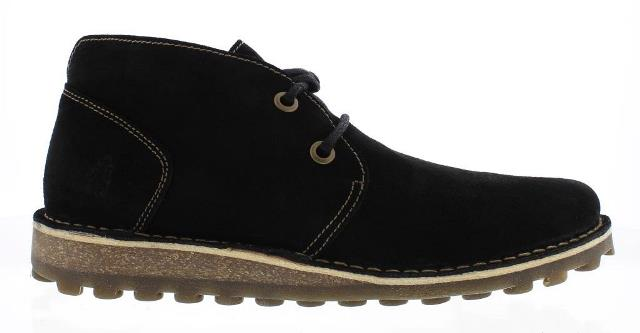 Fly London Mime Men's Desert Boots in Black Suede