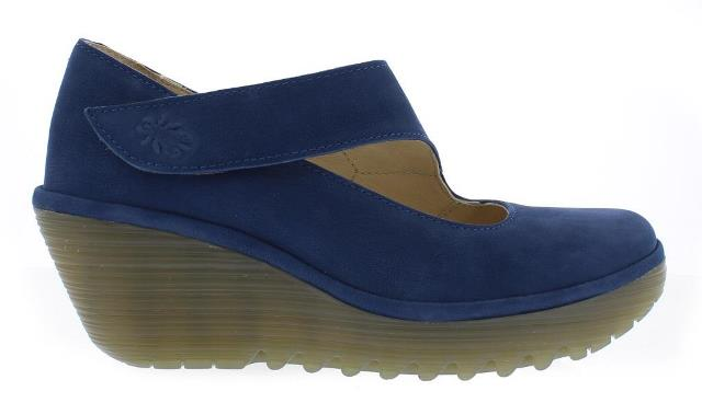Fly London Women's Yasi Blue Wedge Shoe