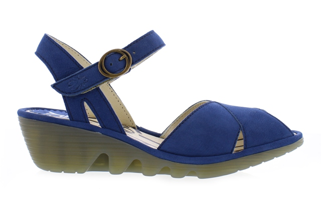 Fly London Women's Peke Sandals in Navy