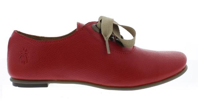 Fly London Women's Fa Lace Up Shoe in Red