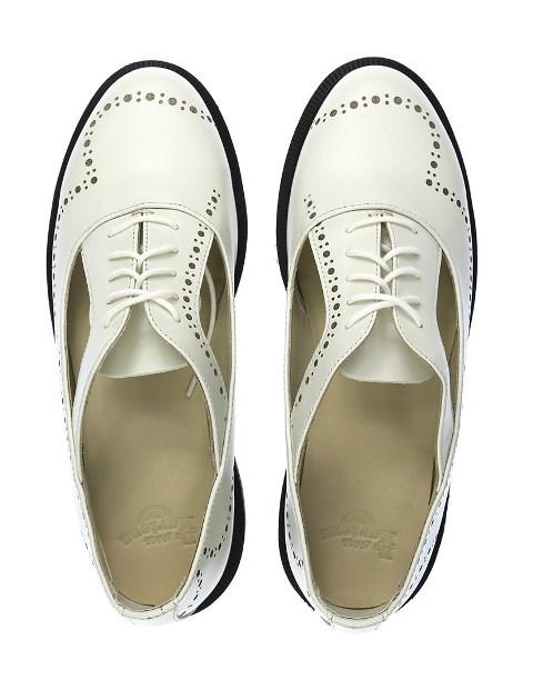 Dr Martens women's Ruby cutout shoe-off white