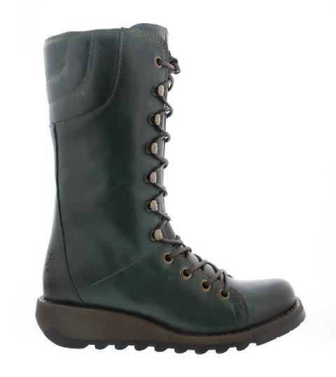 Fly London STER Zip up Boot - Petrol