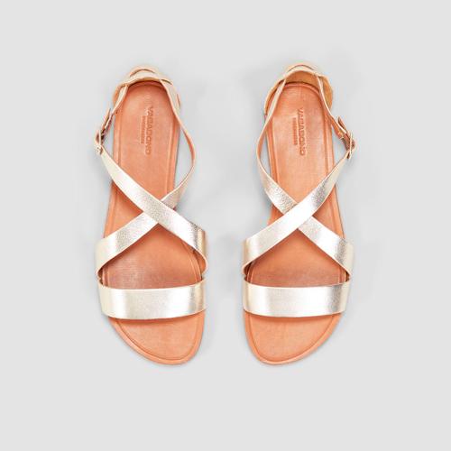 Vagabond Women's Tia Gold Strappy Sandal