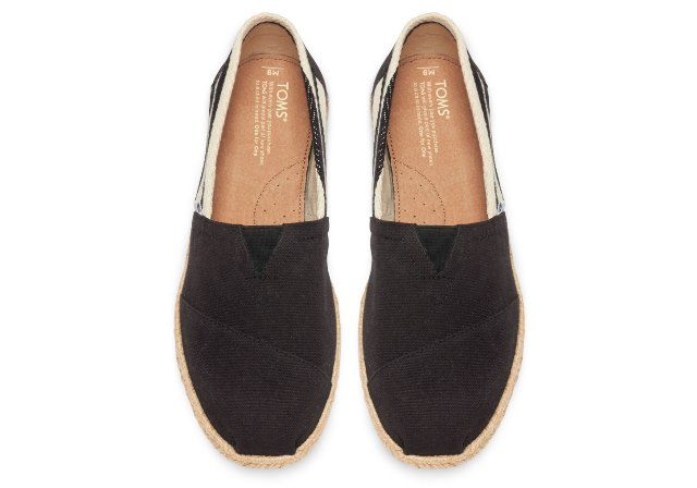 Toms BLACK STRIPE MEN'S UNIVERSITY CLASSICS