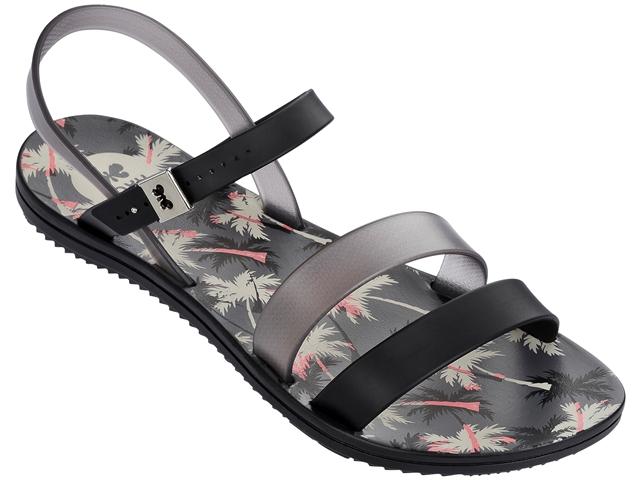 Zaxy Urban 2 strappy sandal-black/smoke