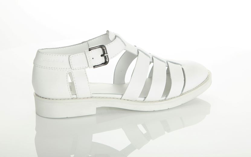 Vagabond Women's Lejla White Leather Sandal 3907-401-01