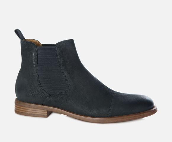 Vagabond Salvatore Black Nubuck Leather Chelsea Boot