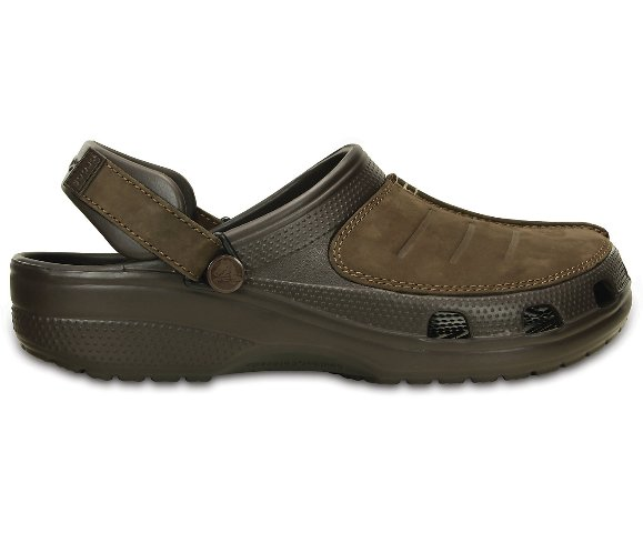 Crocs Yukon Mens-Brown espresso leather