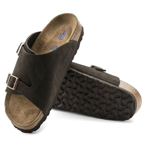 Birkenstock Zurich Mocha Brown suede sandal