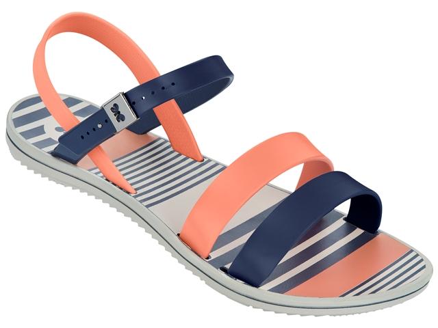 Zaxy Urban strappy sandal-Navy/Coral