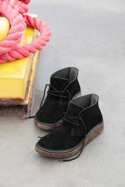 Birkenstock Milton Boot- Black suede