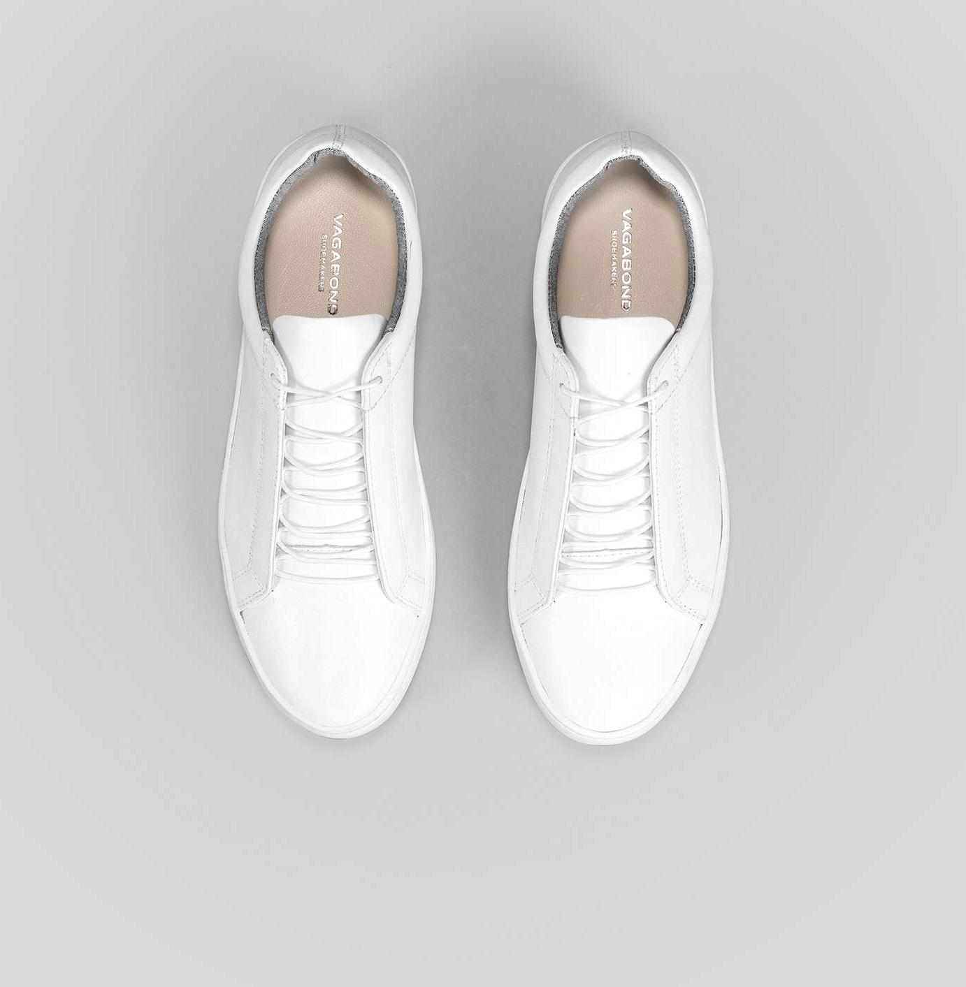 smooth leather hidden lace trainer 4326