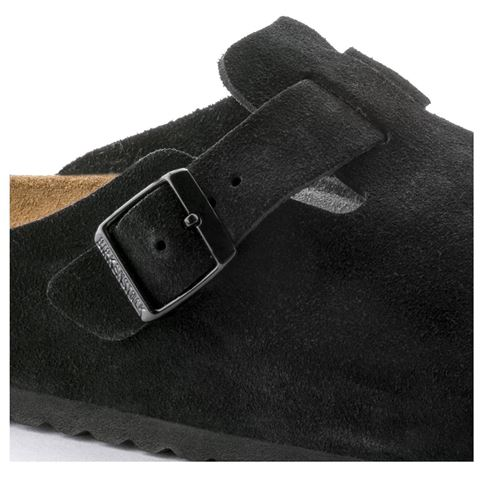 Birkenstock Boston soft footbed-black suede