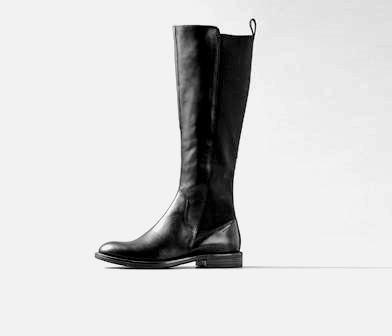 d3386cc81bd982 Vagabond Women s Amina Knee High Leather and elastic Boot Black 4203 ...