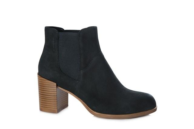 Vagabond Anna Black Suede Ankle Boot