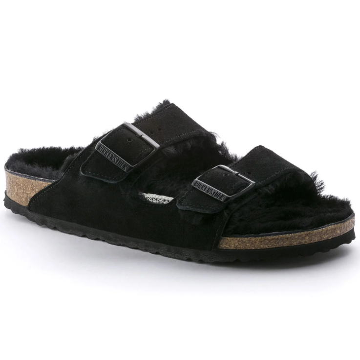 Birkenstock Arizona Fur - Black