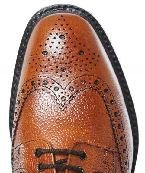 Loake Badminton Grain leather Brogue-tan