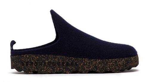Asportuguesas Come wool slipper- Navy