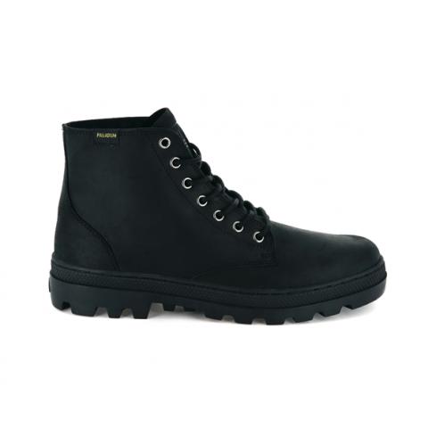 Palladium Pallabosse Mid Leather Boot - Black