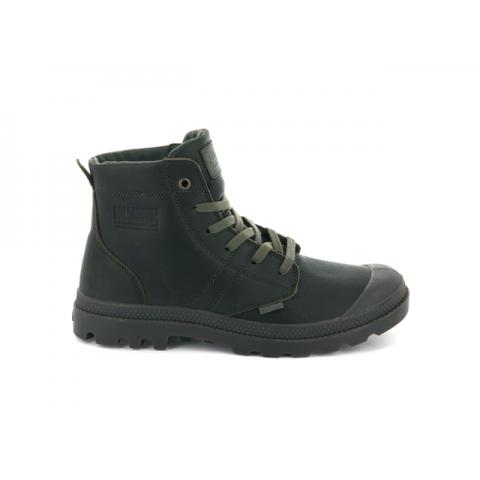 Palladium Pallabrousse Leather Boot - Khaki