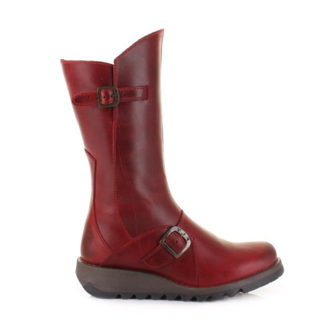 Fly London Mes 2- Red rug Leather