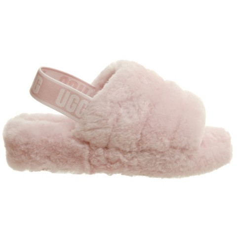 UGG Fluff Yeah Slider in Seashell Pink