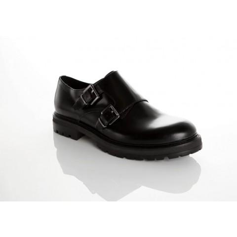 Vagabond Men's Giorgi Black Leather Monk Shoe 3878-204-20
