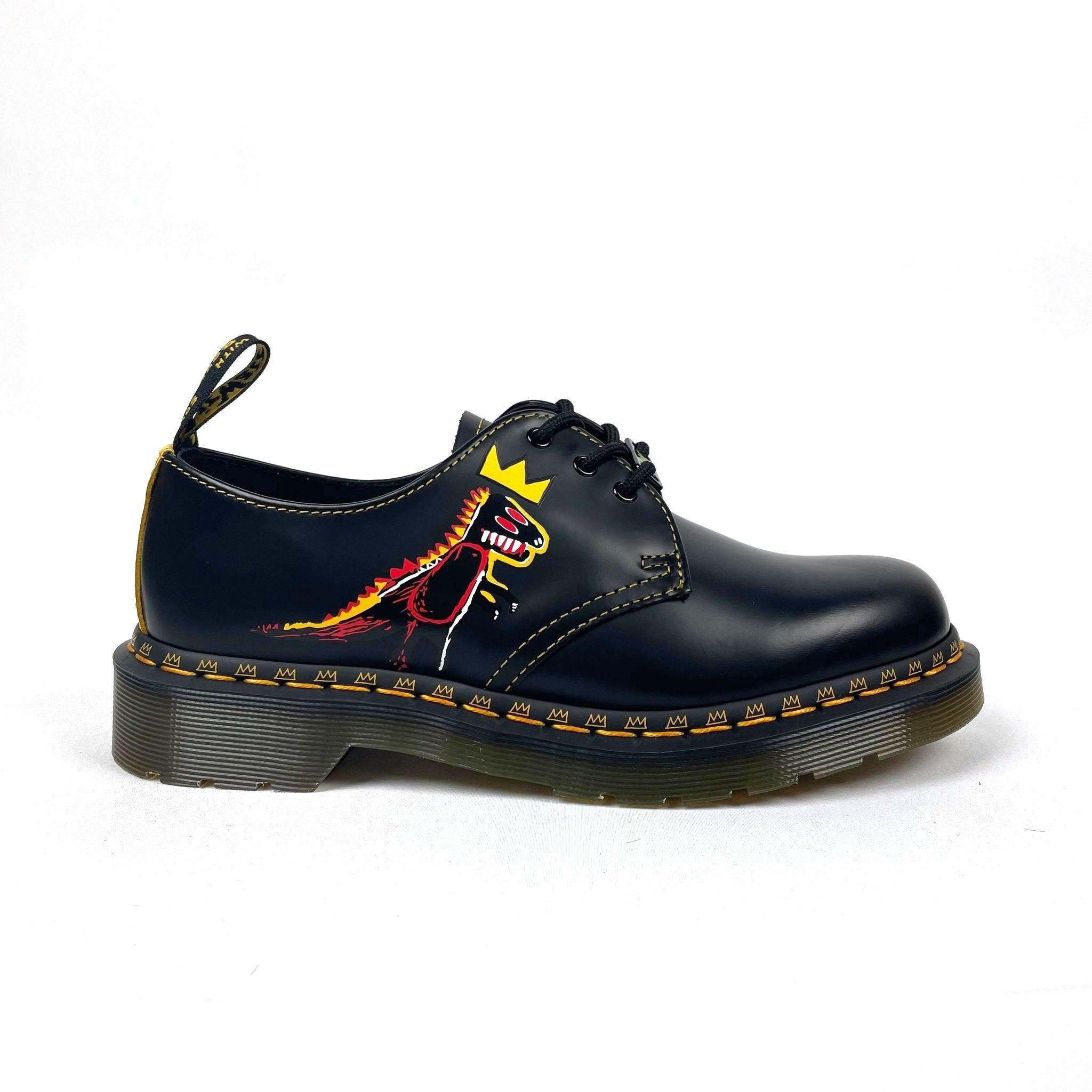Dr Martens 1461 Basquiat II - Black/Yellow