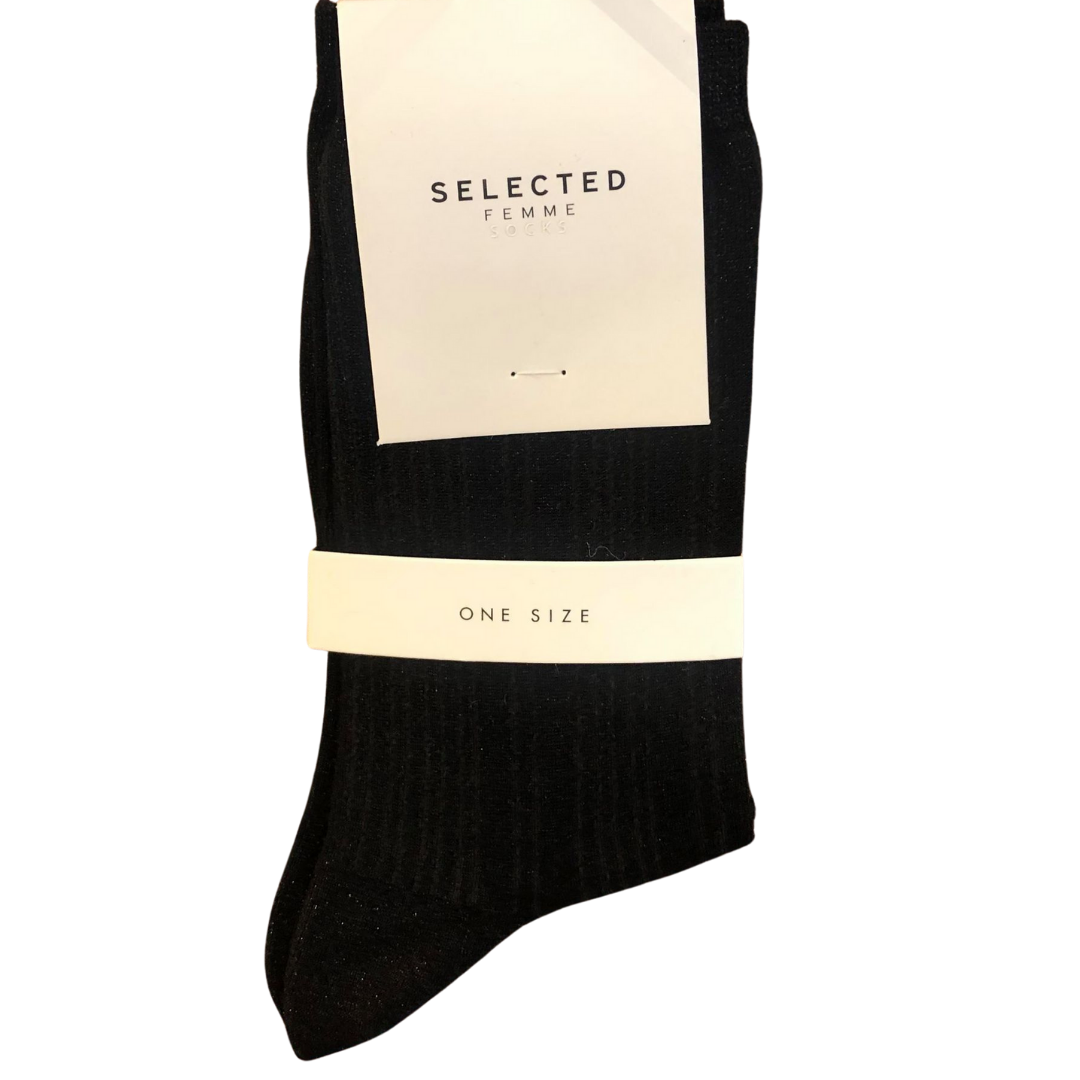 SELECTED Femme Socks - Black Glitter