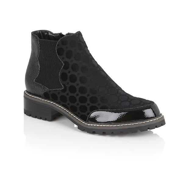 Ruby Shoo Ronni Boot - Black Velvet