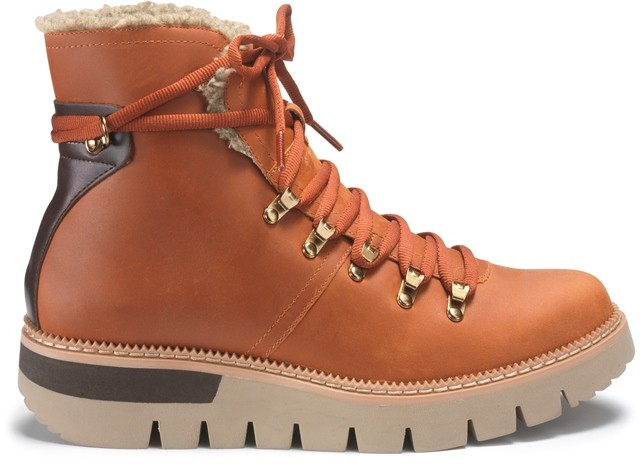 CAT Attention Fur-Lined W/P Boot - Rust