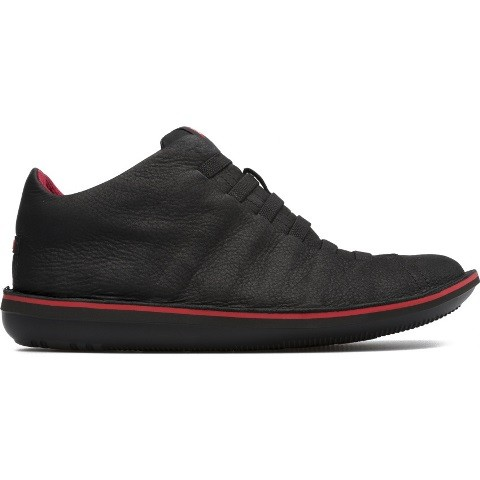Camper Ribbed Beetle Boot - Black/Red