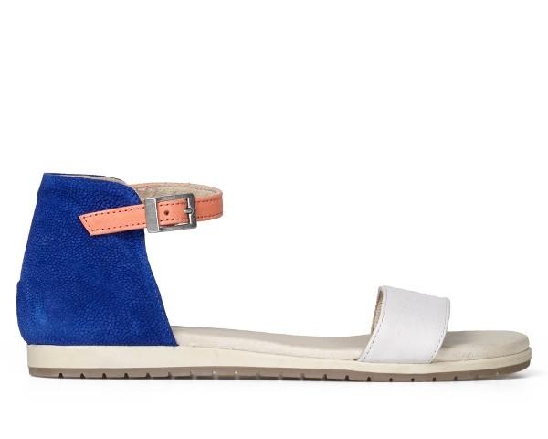 Esska Rodeo women's sandal Cream/Blue/Coral