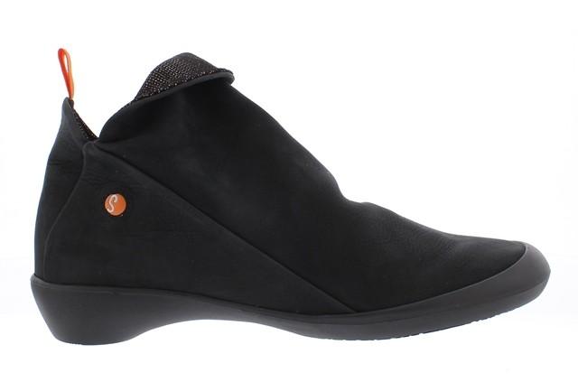 Softinos Farah Ankle Boot - Black/Metallic