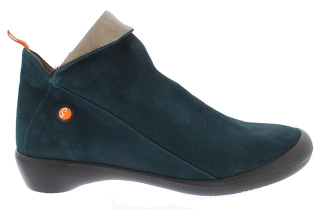 Softinos Farah Ankle Boot - Petrol suede