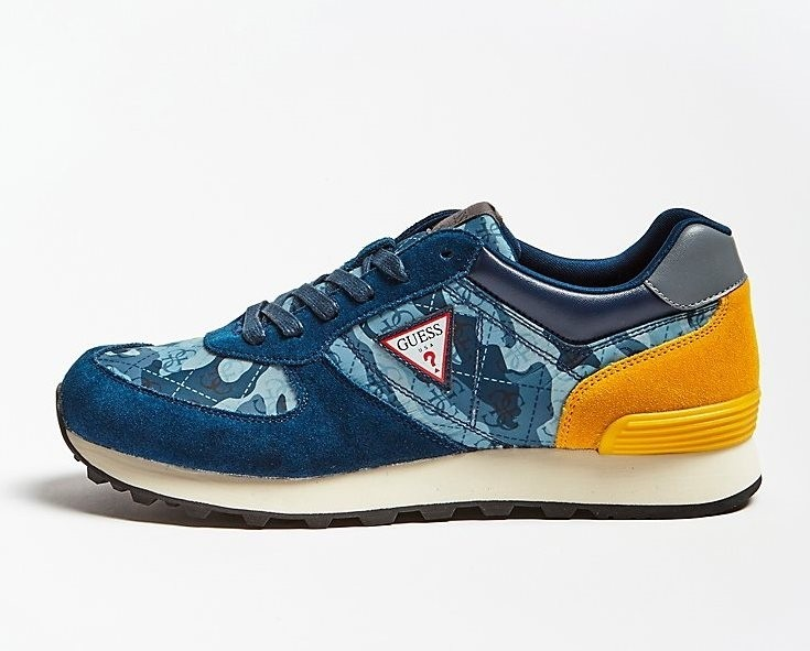 Guess Charlie Camo Trainer - Blue