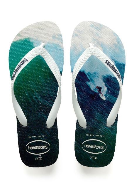 Havaianas Mens Hype Surf Print-White mix