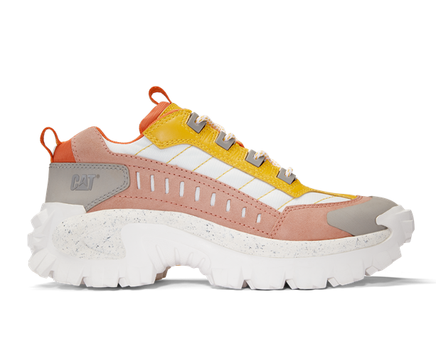 28e35a474d671 cat footwear intruder chunky trainer yellow and white ladies new spring  2019 | Tinfish Shoes | Fashion footwear shop in Leicester