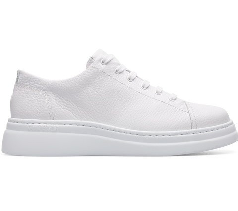 Camper Runner Up Trainer - White Leather/White Sole