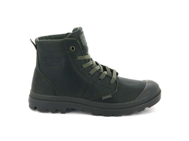 Palladium Pallabrousse Leather Boot - Khaki