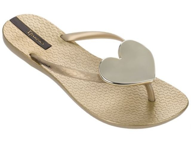 Ipanema Maxi Heart Sandal - Gold