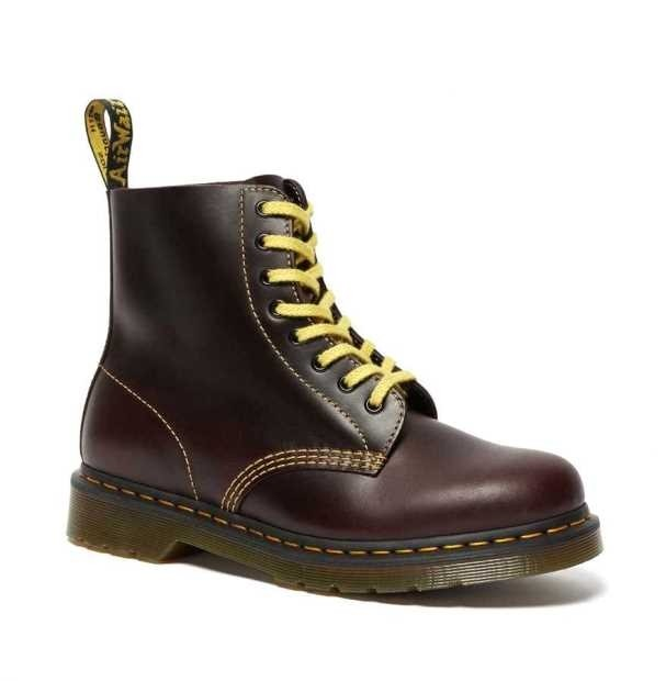 Dr Martens 1460 Pascal - Oxblood / Yellow