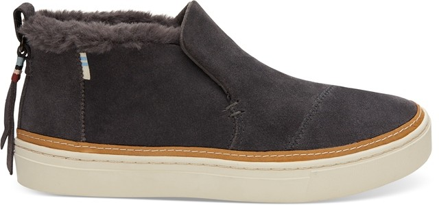 Toms Paxton Faux Fur Ankle Boot - Grey Suede